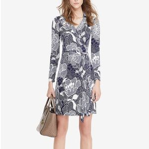 DVF New Jeanne Two Silk Wrap Dress Sz 8